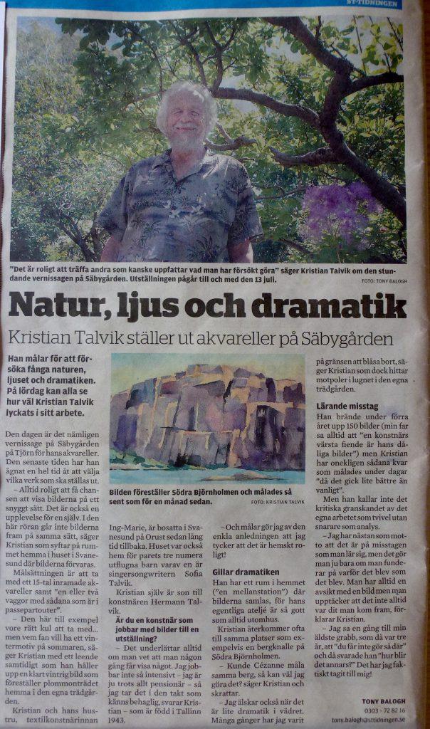 Stor intervju i ST-Tidningen