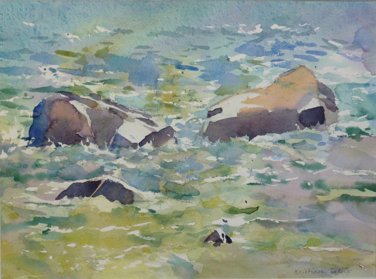 Vinnare av den här akvarellen blev Barbro Karlén, Göteborg